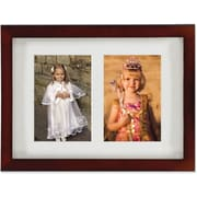 "Lawrence Frames Images Collection 4"" x 6"" Wood Walnut Brown Double Picture Frame (765124)"