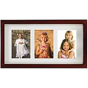 """Lawrence Frames Images Collection 4"""" x 6"""" Wood Walnut Brown Triple Picture Frame (765134)"""