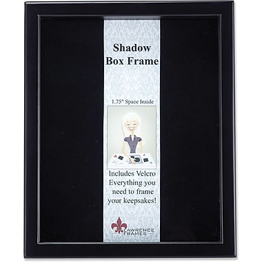 Lawrence Frames Wood White Shadow Box Picture Frame (7902)