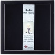 "Lawrence Frames 8"" x 8"" Wood Black Shadow Box Picture Frame (790088)"