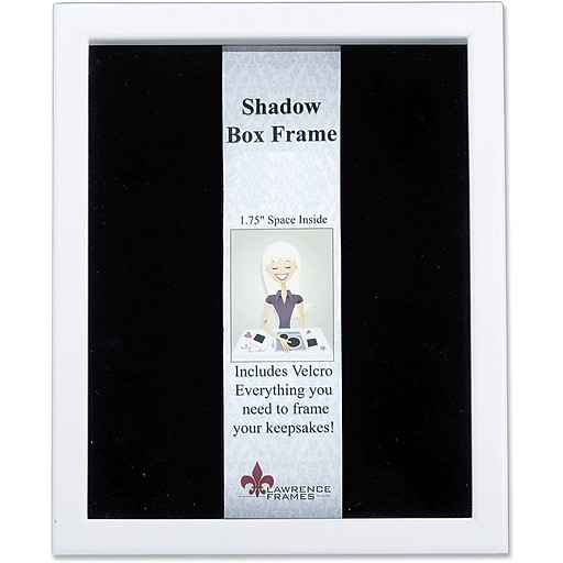 Lawrence Frames 11 X 14 Wood White Shadow Box Picture Frame