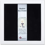 """Lawrence Frames 12"""" x 12"""" Wood White Shadow Box Picture Frame (790212)"""