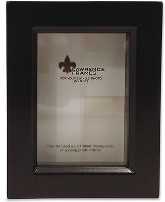 Lawrence Frames 25 X 35 Wood Black Shadow Box Picture Frame