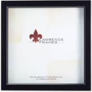"Lawrence Frames 8"" x 8"" Wood Black Shadow Box Picture Frame (795088)"