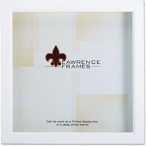 Lawrence Frames 10 X 10 Wood White Shadow Box Picture Frame