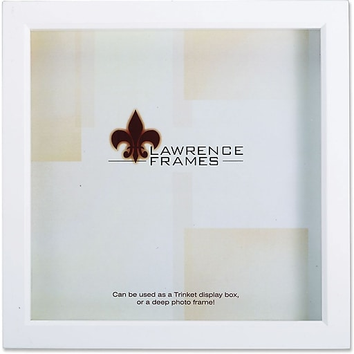 Lawrence Frames 12 X 12 Wood White Shadow Box Picture Frame