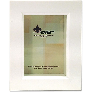 795223 White Wood Treasure Box Shadow Box 2.5x3.5 Picture Frame