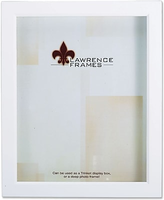 Lawrence Frames 8 X 10 Wood White Shadow Box Picture Frame 795280