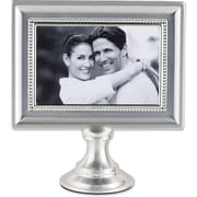 "Lawrence Frames 4"" x 6"" Metal Beaded Pedestal Picture Frame (831064)"