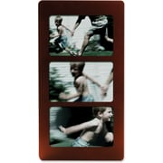 """Lawrence Frames 4"""" x 6"""" Wood Triple Picture Frame (834064T)"""