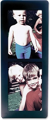 Black Wood 5x7 Multi DoubleVertical Picture Frame
