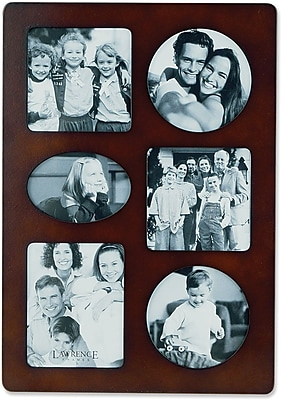 Walnut Wood Multi 6 Opening Picture Frame