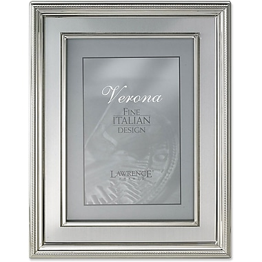 8x10 Silver Plated Metal Picture Frame - Brushed Silver Inner Panel