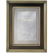 "Lawrence Frames Verona Collection 5"" x 7"" Metal Bronze on Brushed Brass Picture Frame (840457)"