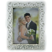 "Lawrence Frames Sentiments Collection 5"" x 7"" Metal Ivory Picture Frame (859257)"