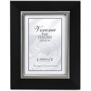 "Lawrence Frames Verona Collection 4"" x 6"" Wooden Black Picture Frame (95146)"