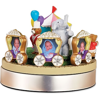 Wind Up Musical Circus Train Frame - Holds Three 2x3 Photos