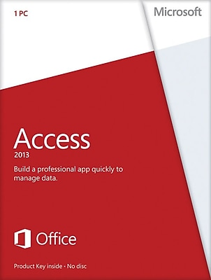 Microsoft Access 2013 for Windows (1-User) [Product Key Card]
