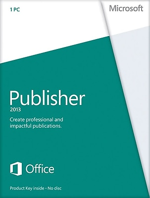 Microsoft Publisher 2013 for Windows (1-User) [Product Key Card]