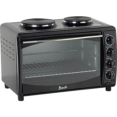 Avanti® Electric Oven 2 Burner Toaster, Black