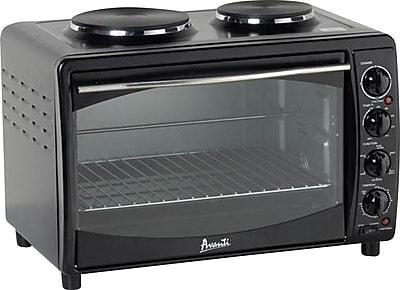 Avanti® Electric Oven 2 Burner Toaster, Black
