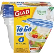 Glad® To Go Lunch Containers, 32 oz., 4/Pack