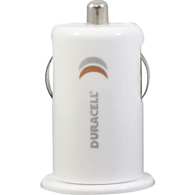 Duracell Mini USB Car Charger, White