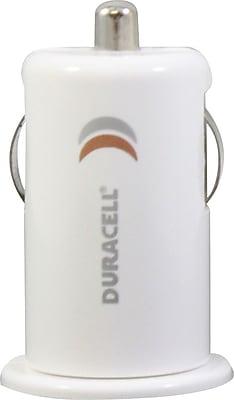 Duracell Mini USB Car Charger, White