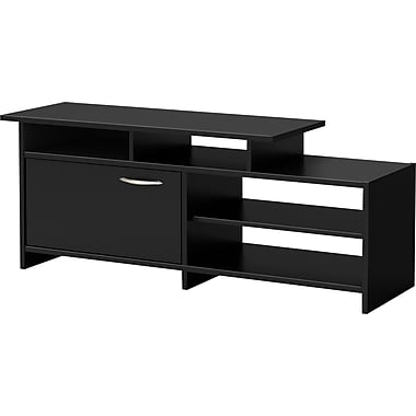 South Shore City Life TV Stand, Solid Black