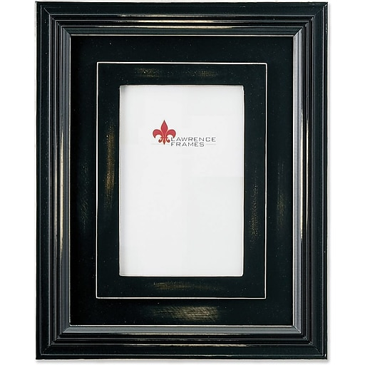Dimensional Rustic Black Wood 4x6 Picture Frame   Staples
