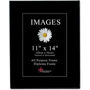 "Lawrence Frames Image Collection 11"" x 14"" Plastic Black Picture Frame, 6/Pack (350011)"