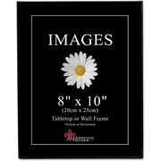 "Lawrence Frames Image Collection 8"" x 10"" Plastic Black Picture Frame, 6/Pack (350080)"