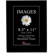 "Lawrence Frames Image Collection 8.5"" x 11"" Plastic Black Picture Frame, 6/Pack (350081)"