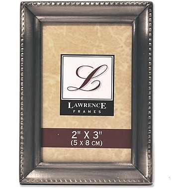 Antique Pewter 2x3 Picture Frame - Beaded Edge Design