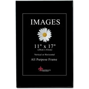 "Lawrence Frames Image Collection 11"" x 17"" Plastic Black Picture Frame, 6/Pack (350017)"