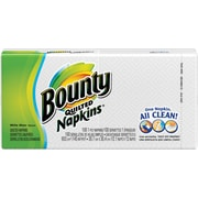 Bounty® Napkins, 1-Ply, White, 100/Pk