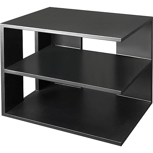 Victor 174 Wood Desk Accessories Corner Shelf Midnight Black