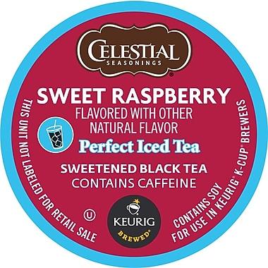 Keurig® K-Cup® Celestial Seasonings® Sweet Raspberry Perfect Iced Tea, Regular, 24 Pack
