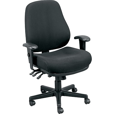 Eurotech Seating 24/7-BLKDOVE Fabric Task Chair with Adjustable Arms, Dove Black