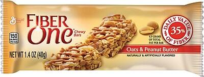 Fiber One Chewy Bars, Oats & Peanut Butter, 1.4 oz., 16 Bars/Box (GEM34887)