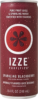 Izze® Blackberry Sparkling Juice, 8.4 oz. Cans, 24/Case