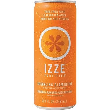 Izze® Clementine Sparkling Juice, 8.4 oz., 24 Cans/Case