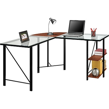 Altra Furniture Aden Corner Glass Computer Desk Staples 174