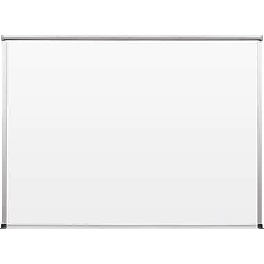 Best-Rite TuF-Rite Whiteboard with Tackless Paper Holder, Slim-Bite Frame, 4' x 3'