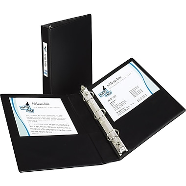 Avery® Mini Size Durable Non-View Binder with Round Rings, 8 1/2 x 5 1/2, Non-View, Each (27257)