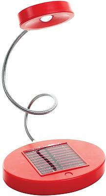 Trademark Global Solar Powered Flex LED Desk Lamp, Red