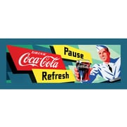"Coca-Cola ""Coke Waiter"" Stretched Canvas Print, 12"" x 36"""