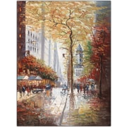 "Trademark Global Joval ""French Street Scene"" Canvas Art, 24"" x 32"""