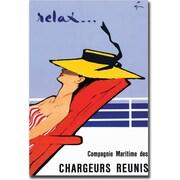 "Trademark Global Rene Gruau ""Relax"" Canvas Art, 35"" x 47"""