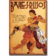 "Trademark Global ""Bailes Rusos Teatro Liceo"" Canvas Art, 18"" x 24"""
